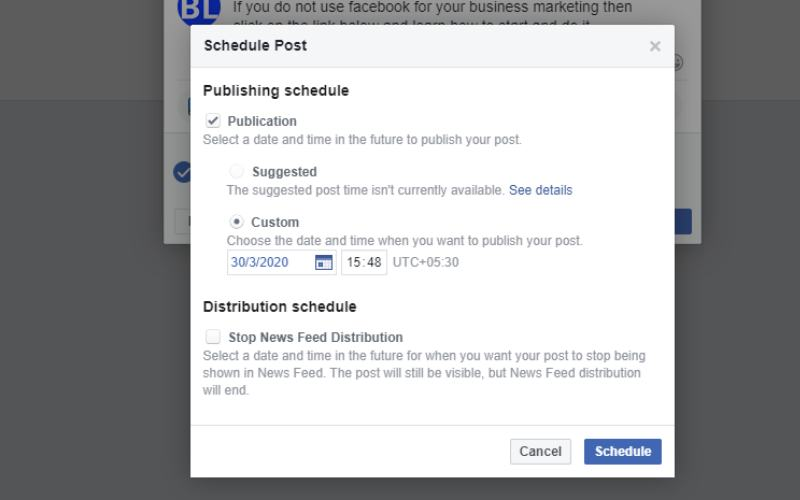 When should post on facebook